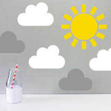children s weather wall sticker by little chip grey white small