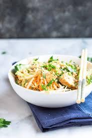 low carb chicken pad thai zoodles love u0026 zest