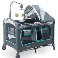 valdera multifunctional folding crib continental portable game bed