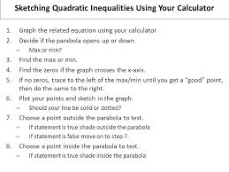 sketching quadratic equations by hand u2026no calculator 1 decide if