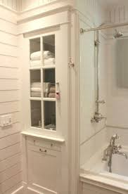 Best  Narrow Bathroom Cabinet Ideas On Pinterest How To Fit A - Antique white bathroom linen cabinets