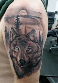 shoulder cover up with simple wolf design with