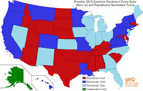 2016 Presidential Election Map by Republican Governors Largely Immune From A Trump Nomination
