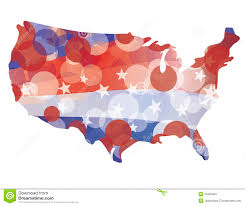 United States Map Clip Art by Usa Map With Red White Blue Circle Pattern Stock Images Image