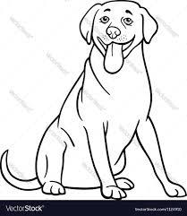labrador retriever dog cartoon coloring vector image