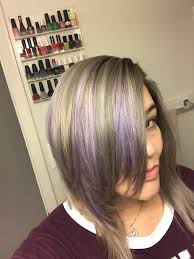 highlights for gray hair photos gray hair with purple highlights by ryan yelp