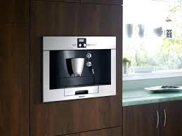 In Wall Coffee Makers Appliance Miele Wall Mounted Coffee Machine