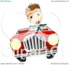 Halloween Character Cartoon Royalty Free Vector Image 49 962 by Clipart Of A Blond White Driving A Boy In A Red Convertible