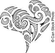 koru a set of glass maori koru curl ornaments vector clipart