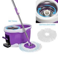 Floor Mop by Stainless Steel 360 Spin Mop U0026 Bucket Set Foot Pedal Rotating