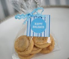 free printable blue and white holiday cookie exchange recipe