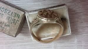 mens monogram ring men s monogram ring 14 kt yellow gold catawiki