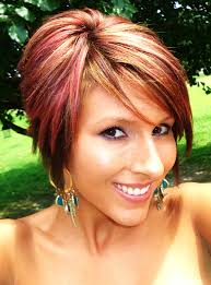 best highlights for pixie dark brown hair short bob long pixie red highlights not so much the color but the