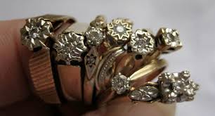 jewelry rings ebay images Stack of vintage diamond rings on ebay gem gossip jewelry blog jpg