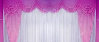 Pink And Purple Curtains White And Purple Curtains On The Wall U2014 Stock Photo Alen44 20012555