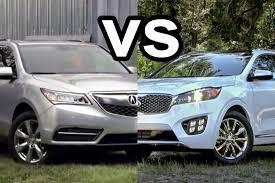 lexus vs acura suv benim otomobilim 2015 acura mdx vs 2016 kia sorento design