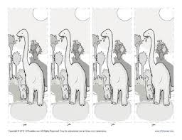 free printable bookmarks for kids dinosaurs
