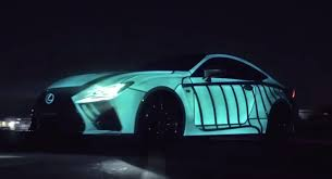 lexus rc f gets pulsating paint job
