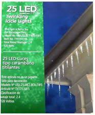 twinkling white led icicle lights cool white blue random twinkling member s mark 12ft icicle led
