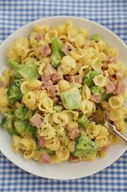 creamy ham and broccoli shells and cheese