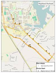 Lsu Parking Map Highland Burbank Trail