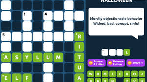 crossword quiz halloween level 7 walkthrough youtube
