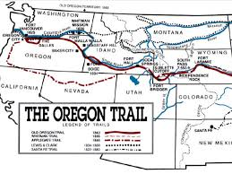 Map Of Oregon Trail by Oregon Trail By Stephen Waltrip