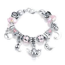 aliexpress com buy lzeshine vintage beads charm bracelet