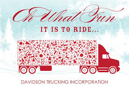 trucking along holiday card business christmas cards