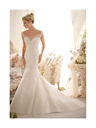 fishtail wedding dress mori 2617 wedding dress ivory tulle fishtail style
