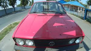 volkswagen old red red volkswagen golf 1 diesel in good condition old car from the