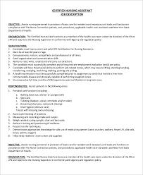 Nursing Home Job Description Resume by Download Job Duties Of Cna Haadyaooverbayresort Com