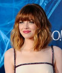 above shoulder length hairstyles with bangs 15 of the best hairstyles for medium length wavy hair beautyeditor