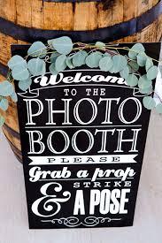 photo booth sign diy wedding photo booth