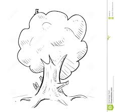 old tree with hiding animals cartoon icon stock images image