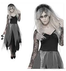 Corpse Bride Halloween Costume Black Corpse Bride Costume Lady Zombie Masquerade Fancy Dress Uk