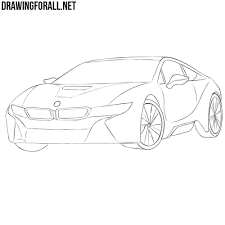 lamborghini front drawing how to draw a bmw i8 step by step drawingforall net