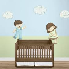 classic baby nursery stencils stickers and coordinating home