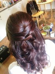 wedding hairstyle half up half down with curls wedding hairstyle