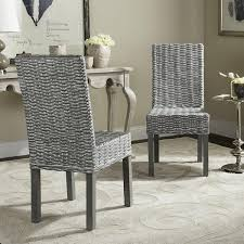 Woven Dining Chair Safavieh Rural Woven Dining Wheatley Grey Washed Wicker Dining