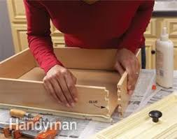 How To Fix Cabinet Drawer Slides Home Repair How To Fix Kitchen Cabinets Family Handyman