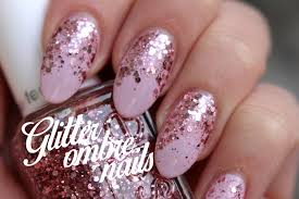pink glitter ombre nails youtube
