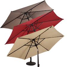 Patio Sets With Umbrellas by 9 Ft Patio Outdoor Umbrella With Crank Outdoor Umbrellas