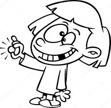 vector of a cartoon with a missing tooth holding a coin from