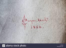 Architect Signature The Elaborate Signature Of The Architect E W Pugin Son Of