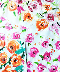 floral wrapping paper alisaburke finger painted wrapping paper