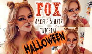 fox halloween costume for girls fox makeup u0026 hair halloween tutorial youtube