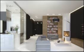 living room brown home library design with cool white floor and full image for brown home library design with cool white floor and blur sofa next to
