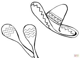 sombrero coloring page maracas coloring page trafic boosterbiz