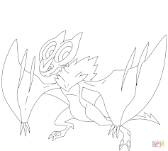 noivern coloring page free printable coloring pages